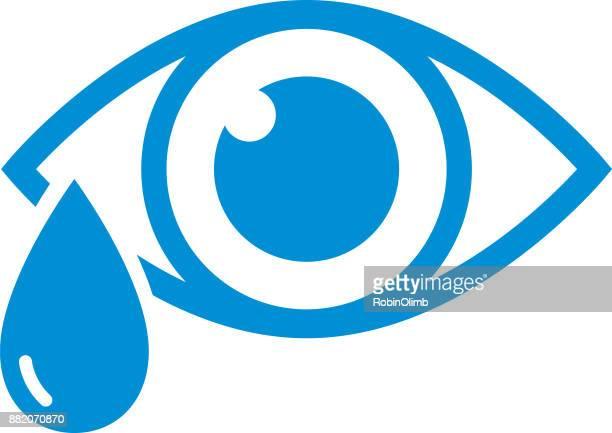 Blue Eye With Tear Icon