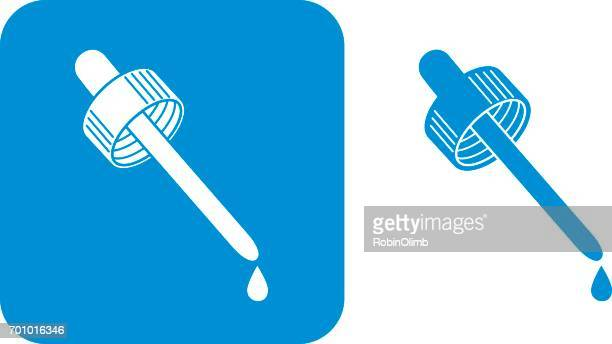 blue eyedropper icons - pipette stock illustrations, clip art, cartoons, & icons