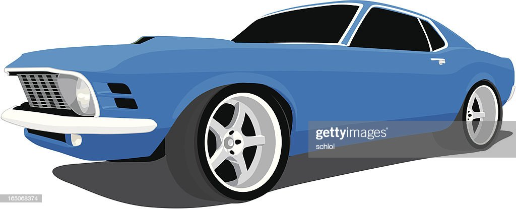 Blue Fastback Mustang