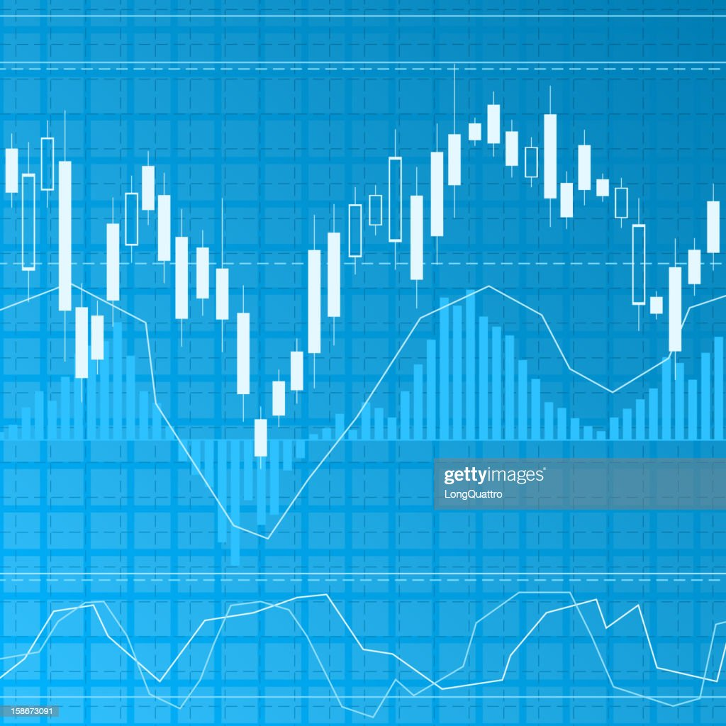 Blue finance background