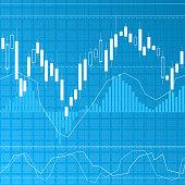 Blue finance background