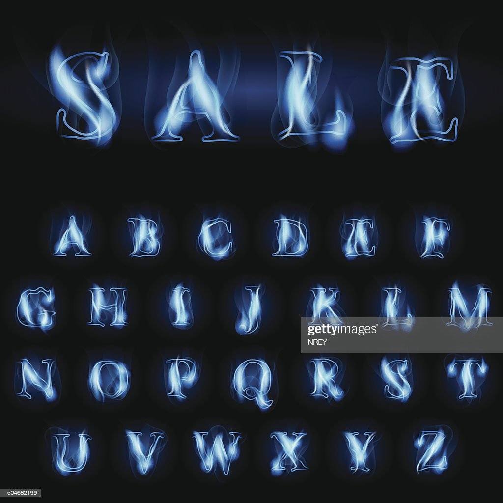 blue fire letters sale