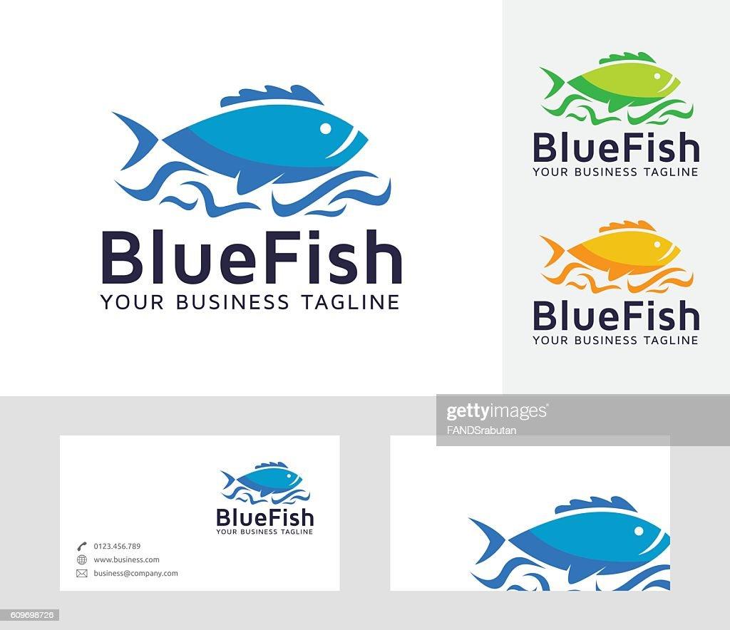 Blue Fish vector logo