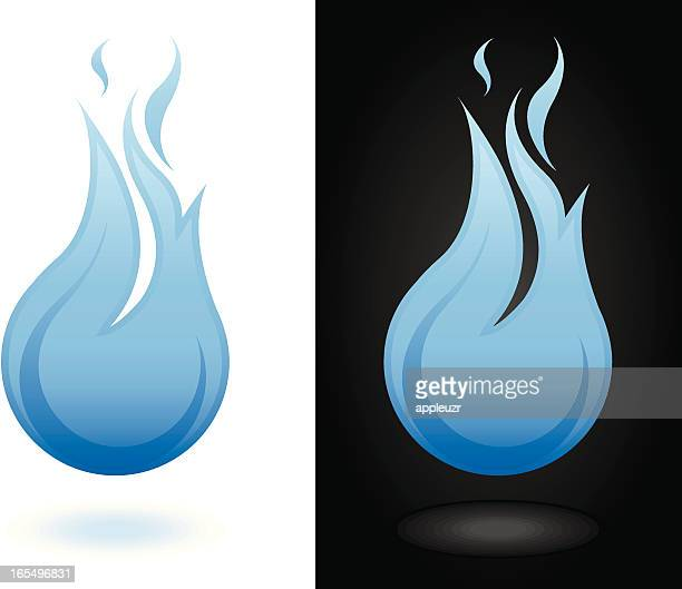 ilustraciones, imágenes clip art, dibujos animados e iconos de stock de azul, llama - llamas de fuego