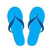 blue flip flops isolated icon design, stock vector illustration graphic, eps 10