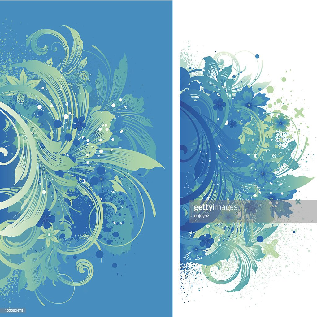 Blue Floral Backgrounds High Res Vector Graphic Getty Images