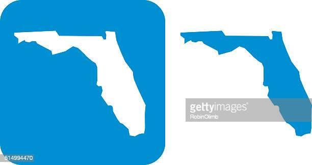 フロリダのアイコンブルー - フロリダ州点のイラスト素材/クリップアート素材/マンガ素材/アイコン素材