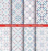 Blue Flower Pattern Backgrounds