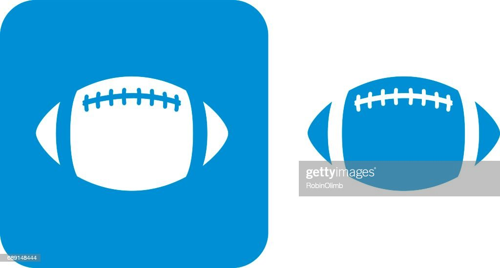 Blue Football Icons : Stock Illustration