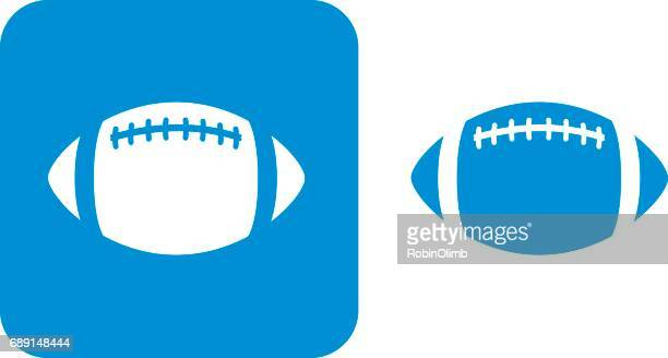 stockillustraties, clipart, cartoons en iconen met blauwe voetbal pictogrammen - football