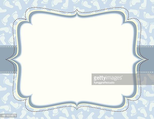 Blue Footprints Ornate Frame