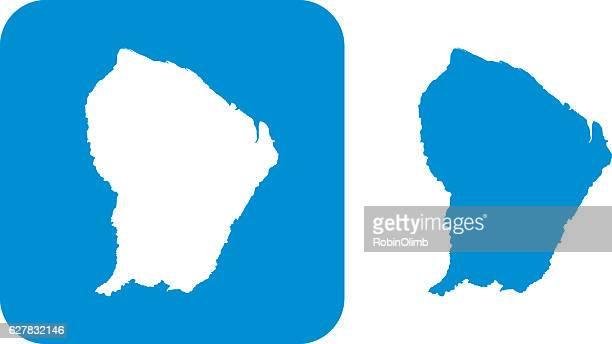 ilustraciones, imágenes clip art, dibujos animados e iconos de stock de blue french guiana icons - guayana francesa