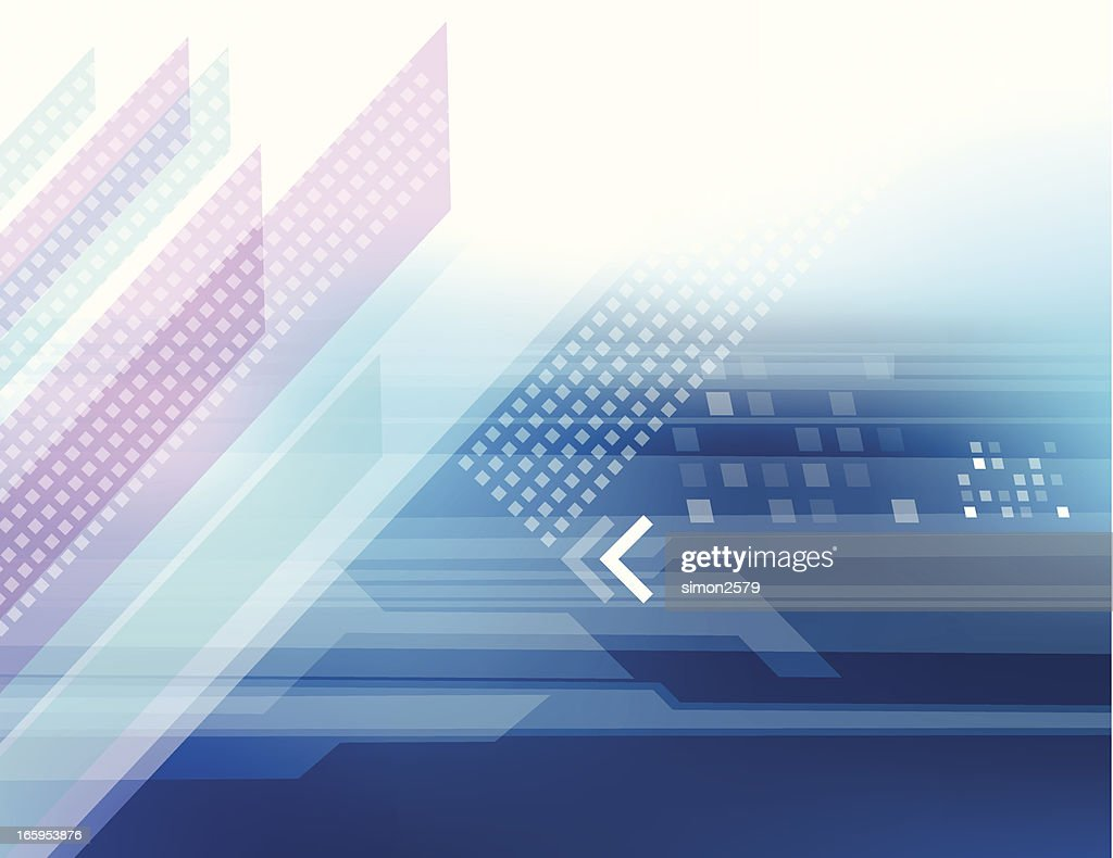 Blue futuristic abstract