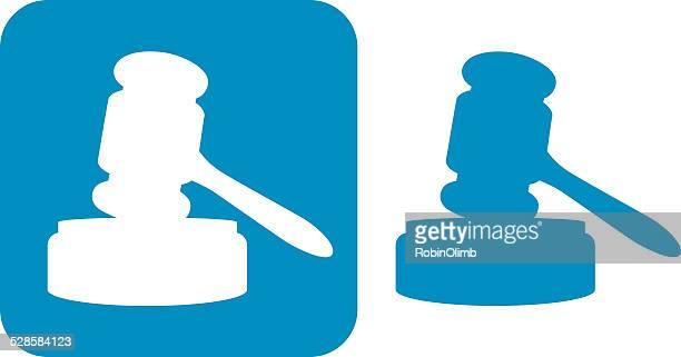 Blue Gavel Icons
