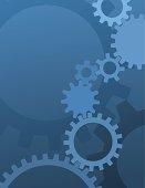 Blue Gear Background