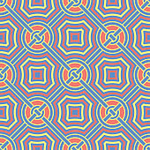 Blue geometric seamless background. Bright multi colored design with red and yellow pattern