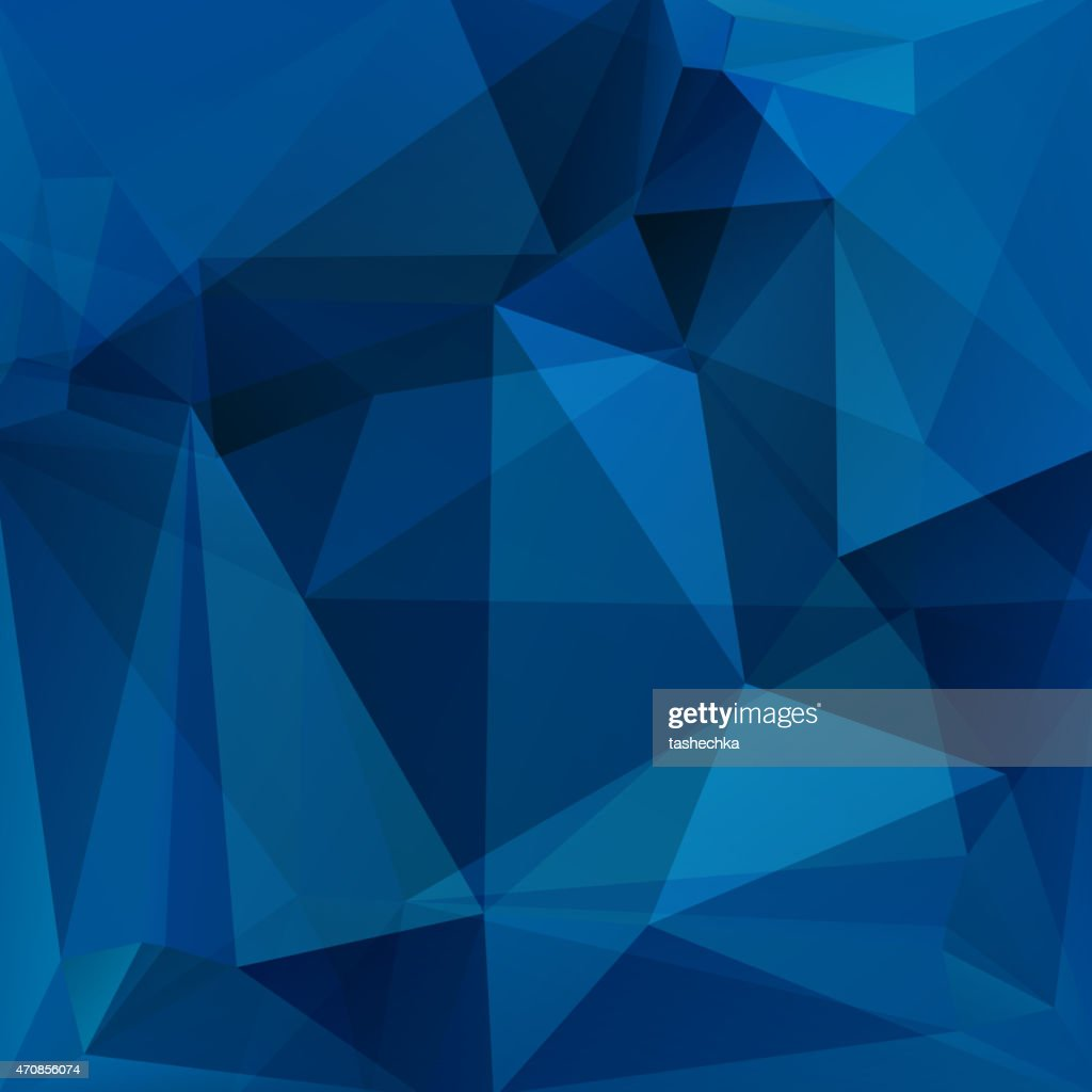 Blue geometric shapes in abstract background