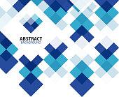 Blue geometrical mosaic background