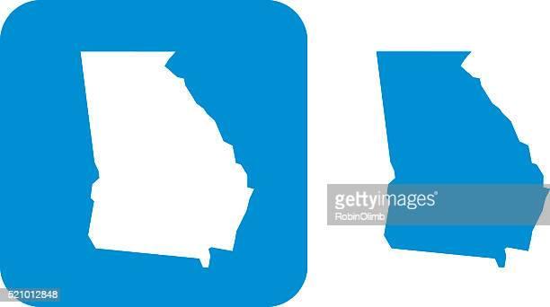 ilustrações, clipart, desenhos animados e ícones de azul de ícone geórgia - geórgia sul dos estados unidos