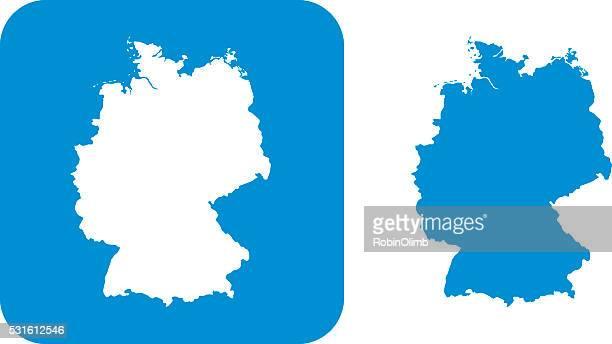 Icône bleue en Allemagne