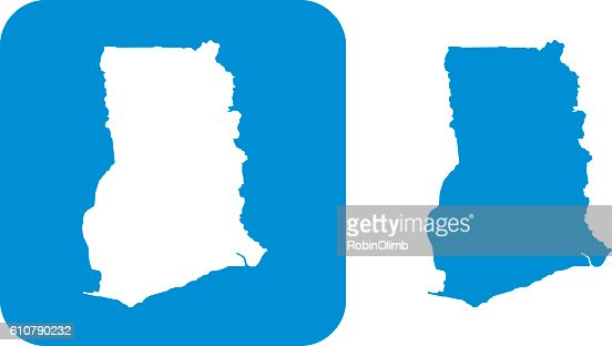 Blue Germany Icon Vector Art Getty Images - Ghana map vector