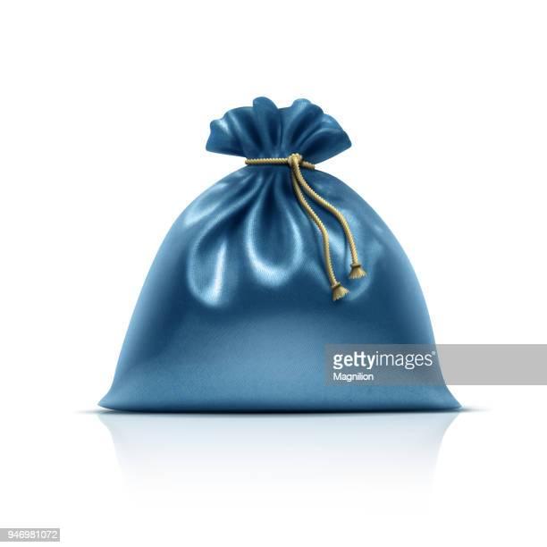 ブルーのギフトバッグ - 布の袋点のイラスト素材/クリップアート素材/マンガ素材/アイコン素材