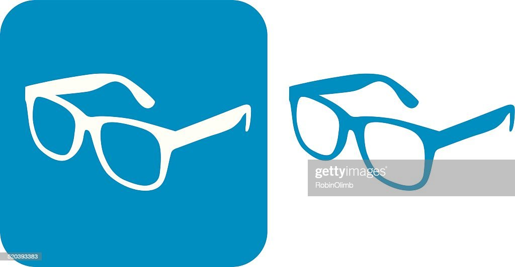 Blue Glasses Icons