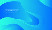 Blue gradient motion wave background, wallpaper, landing page.