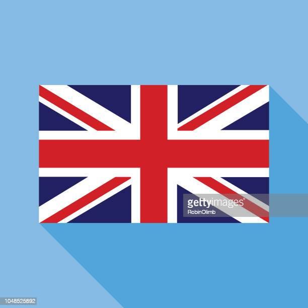 blue great britain flag - british flag stock illustrations