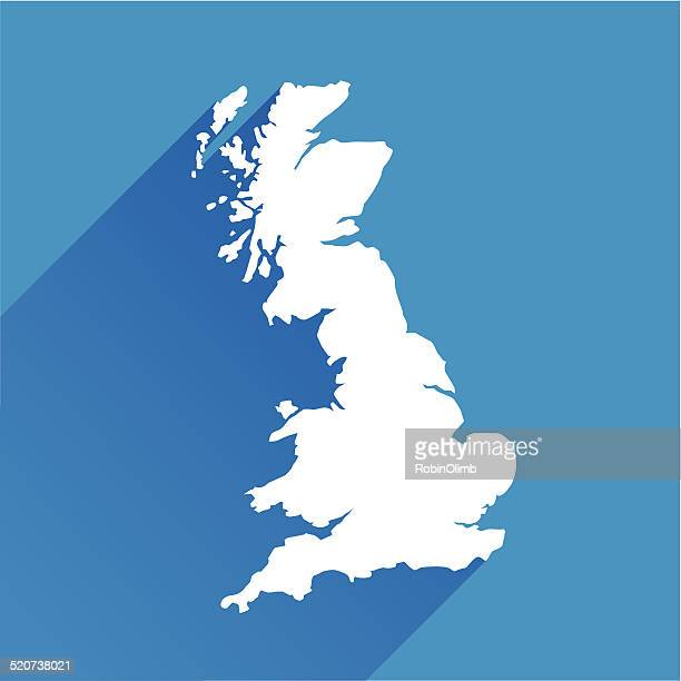 Blue Great Britain Map Icon