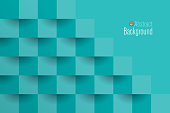 Blue Green abstract background vector.
