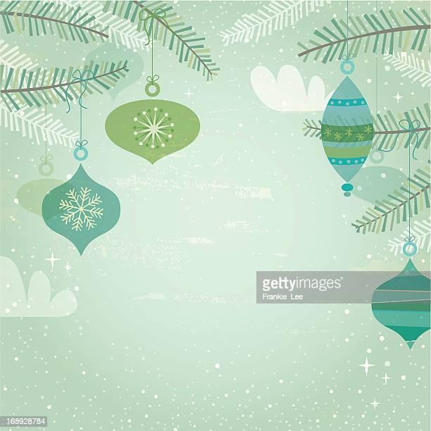 Blue & green retro decorations