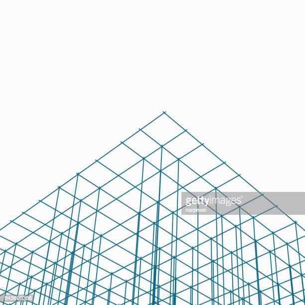 Blue grid pattern