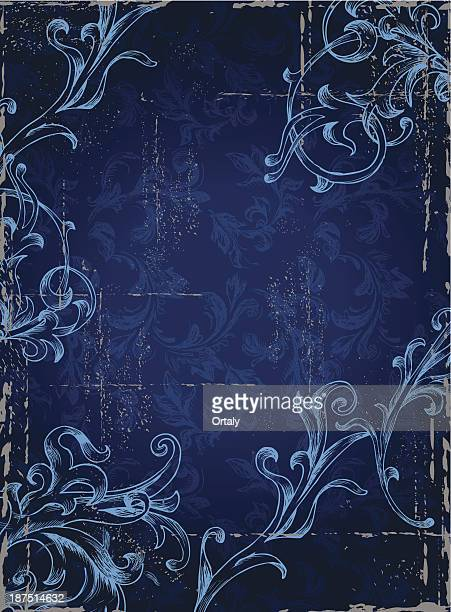 stockillustraties, clipart, cartoons en iconen met blue grunge background - koningschap