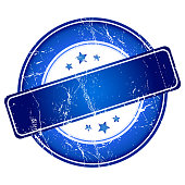 Blue guarantee stamp