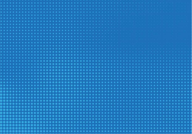blue halftone background - cool attitude stock illustrations
