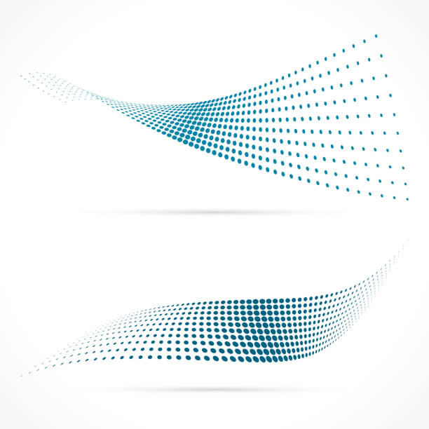 blue halftone vector - swirl stock illustrations