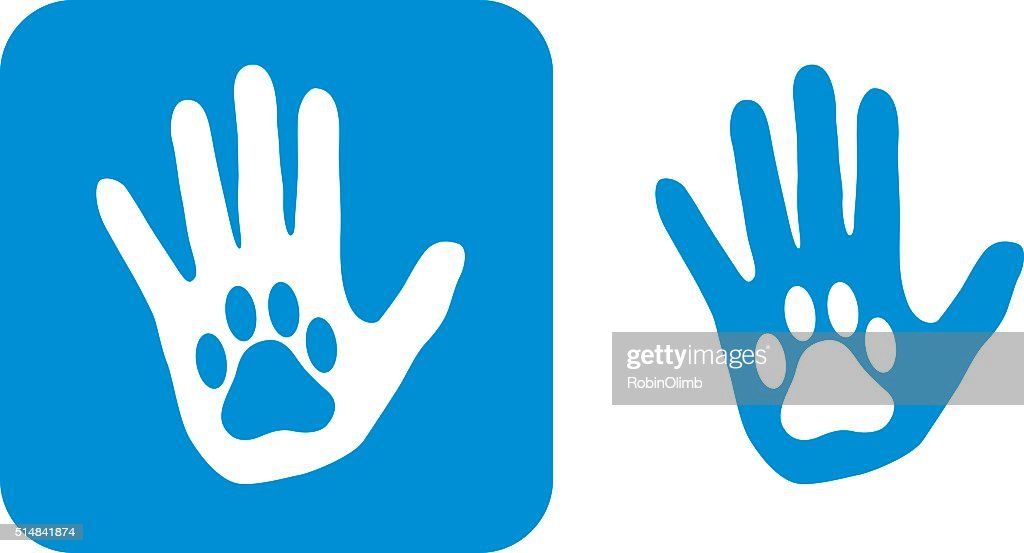 Blue Hand Paw icon