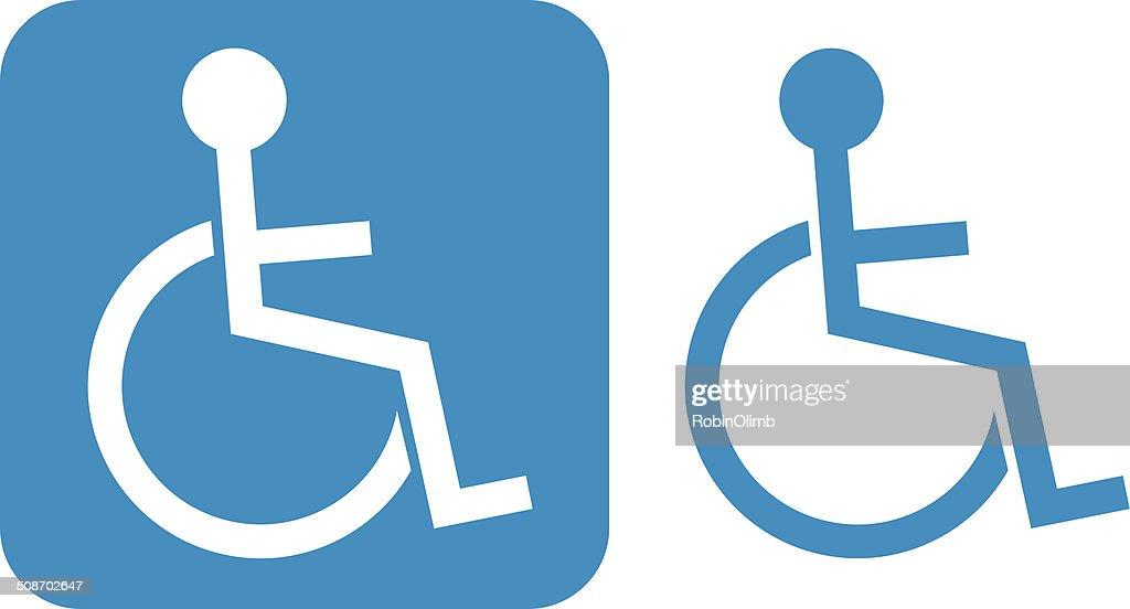 Blue Handicap Icon