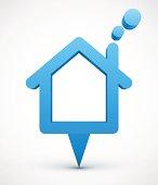 Blue house pointer