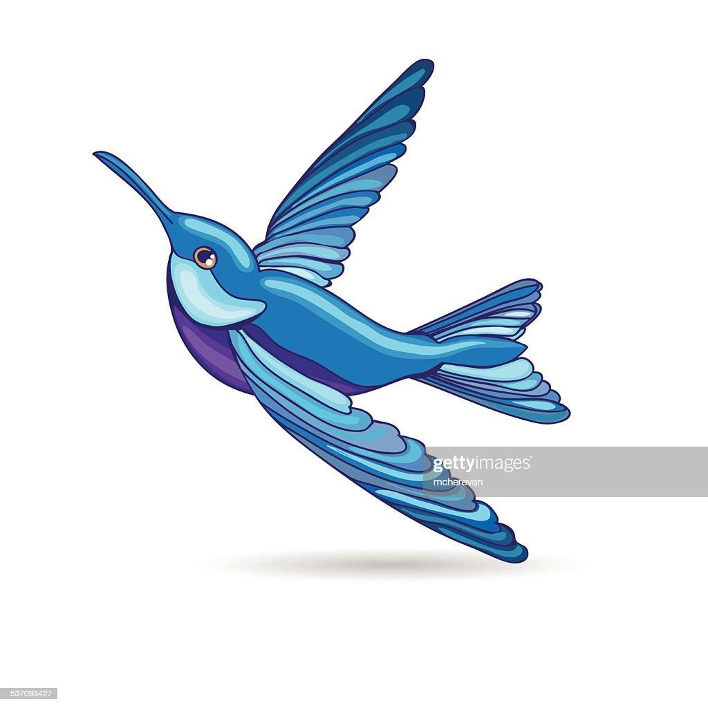 blue hummingbird vector illustration vector art getty images