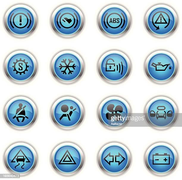 Blue Icons - Car Control Indicators