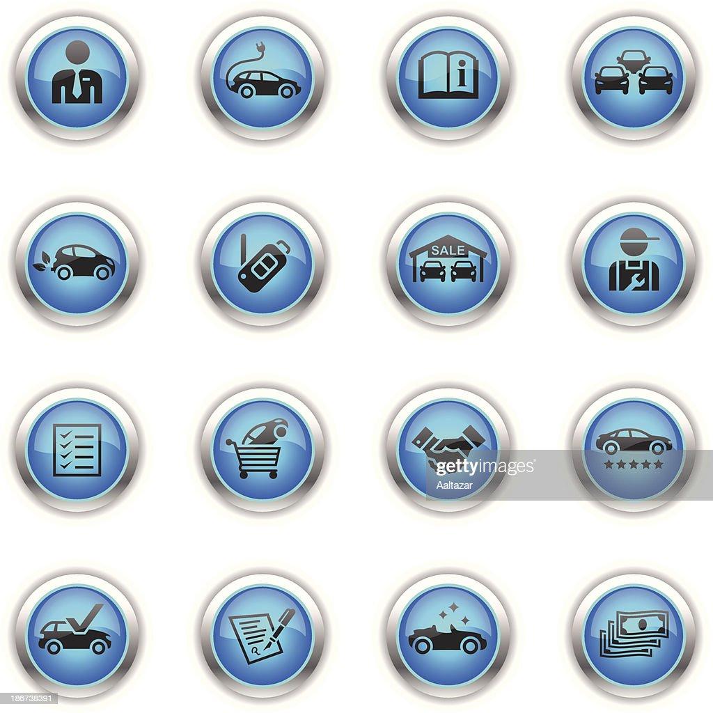 Blue Icons - Car Dealership : Stock Illustration