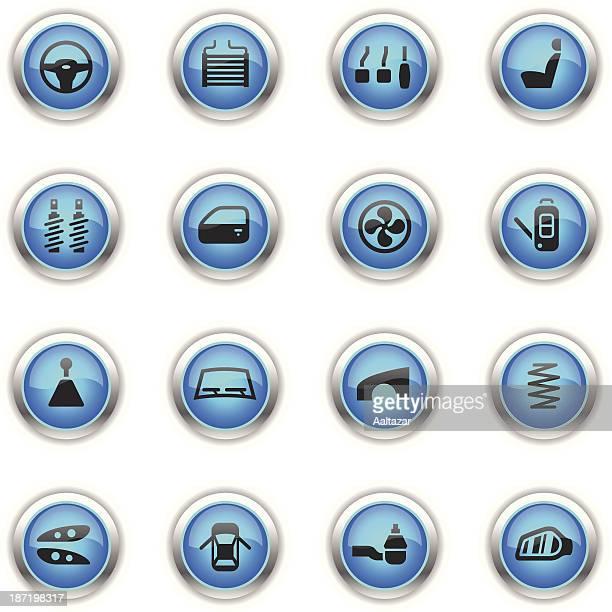 Blue Icons - Car Parts