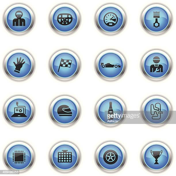 Blue Icons - Formula One Racing