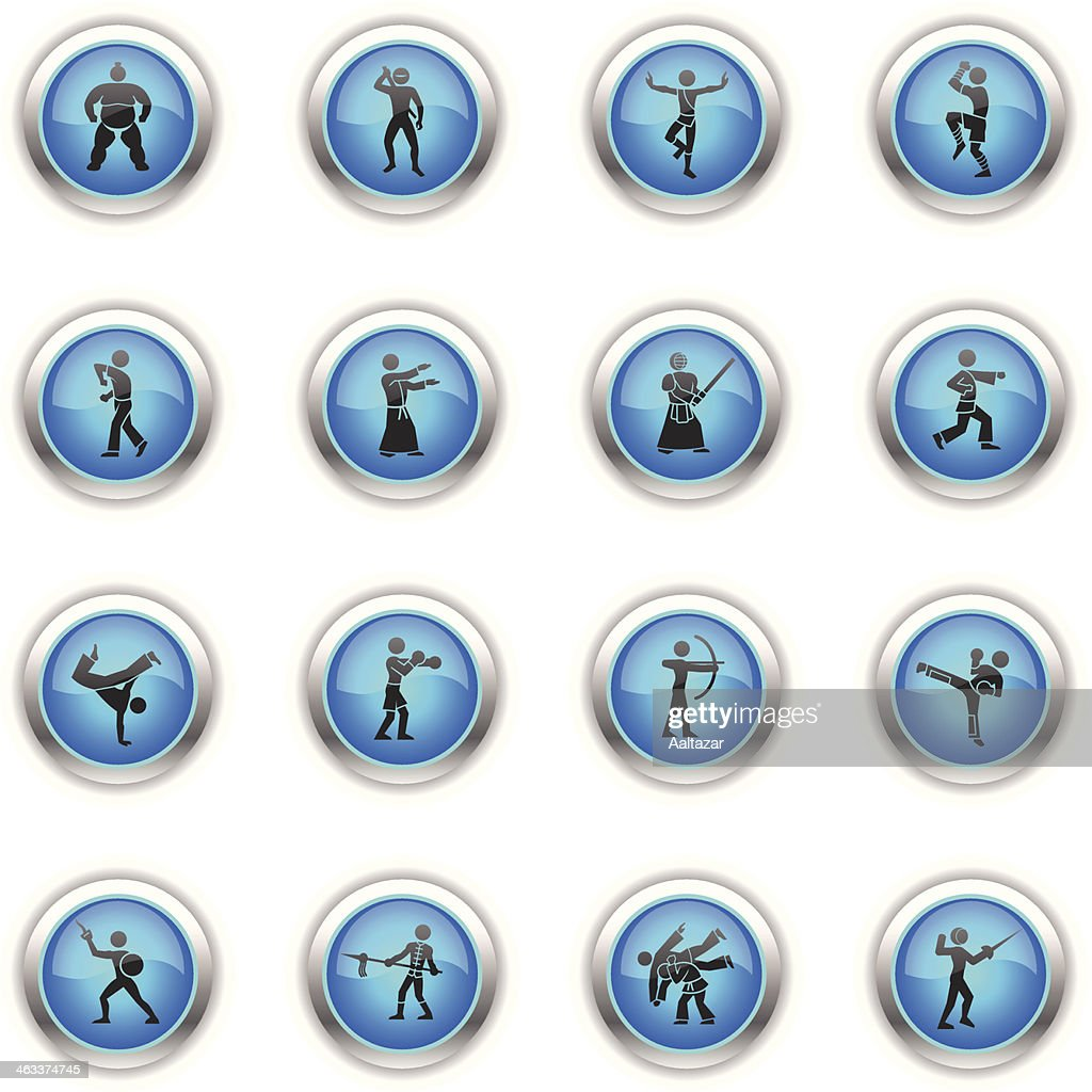 Blue Icons - Martial Arts