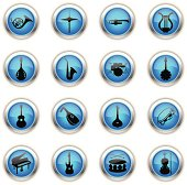 Blue Icons - Musical Instruments