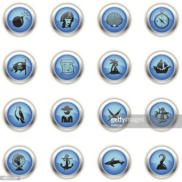 Blue Icons - Pirates