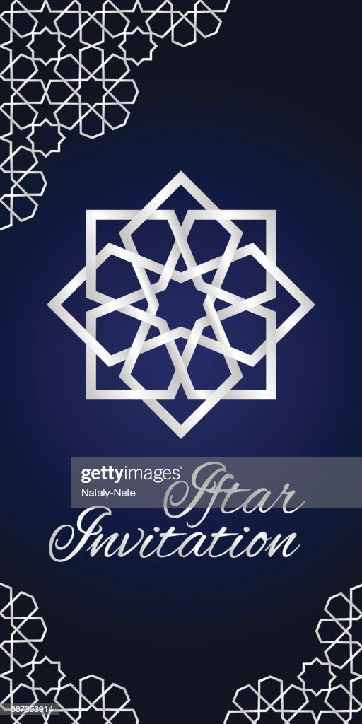 Blue iftar invitation vector art getty images blue iftar invitation vector art stopboris Image collections