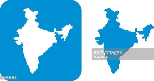 blue india icon - south asia stock illustrations